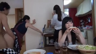 Porn Hub : Japanese MILF do Housework and get Fucked at the same Time  OnMilfCamcom
